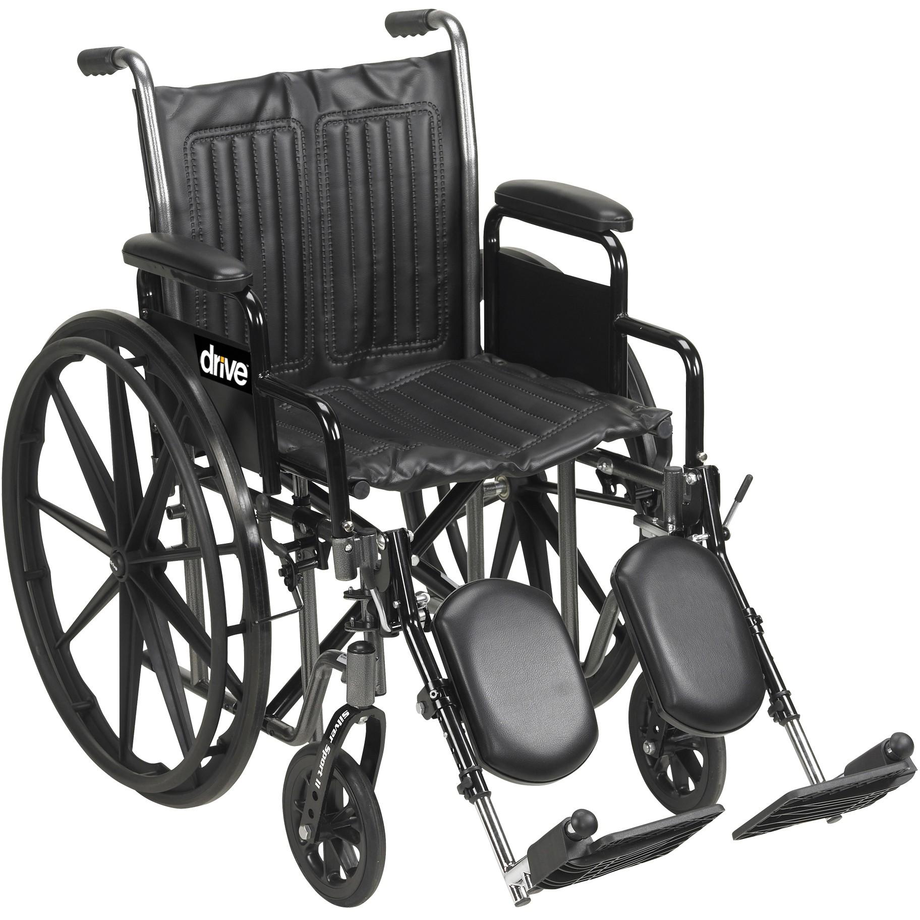 Silver Sport 2 Wheelchair SSP218DDA ELR - Silver Sport 2 Wheelchair-SSP218DDA-ELR